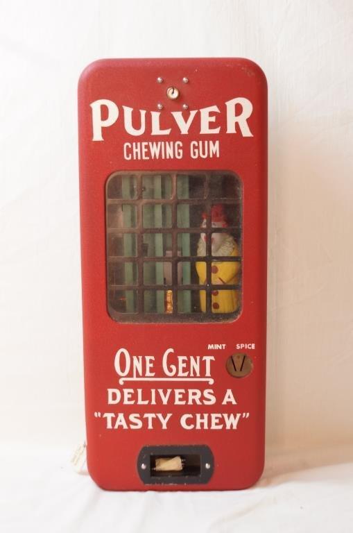 Pulver Chewing gum  Vintage Gum ball machine
