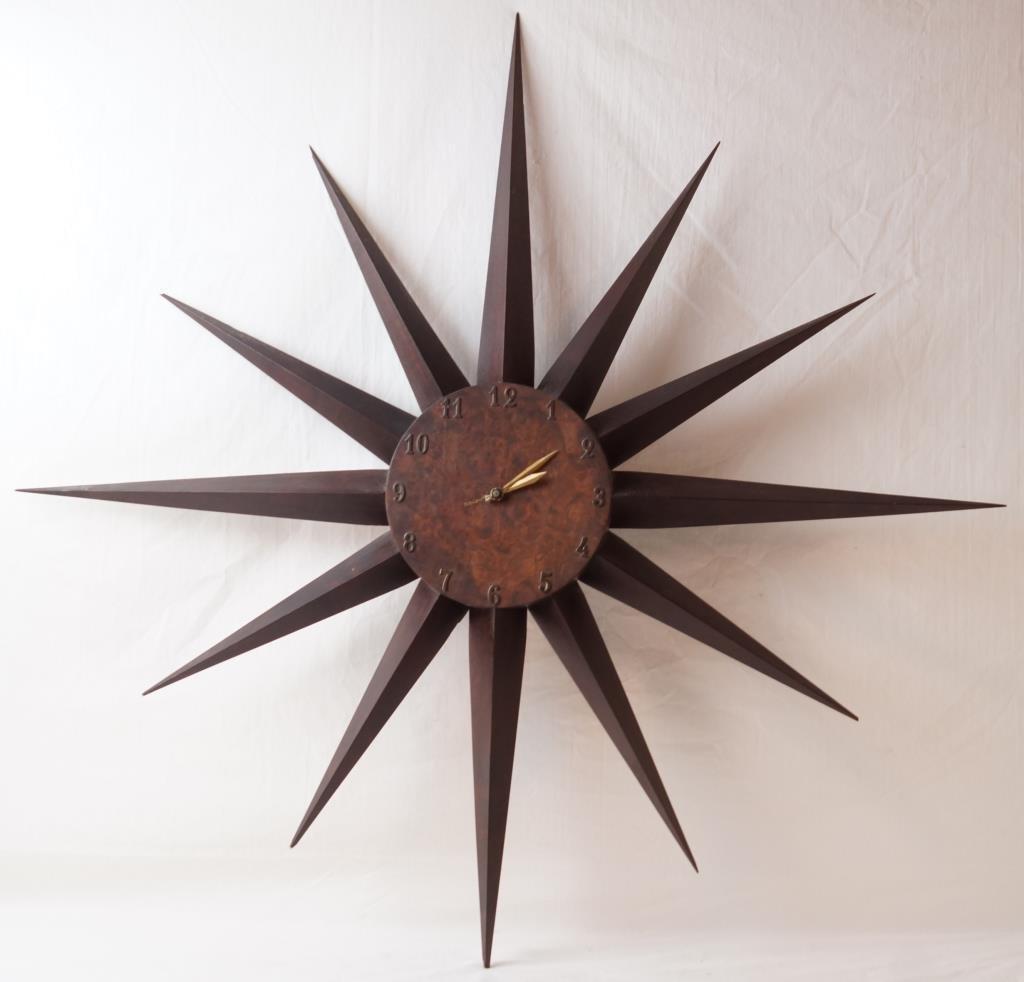 Mid century modern star wall clock