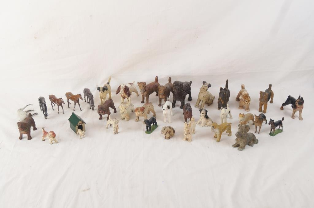 Collection of Britains dogs & horses