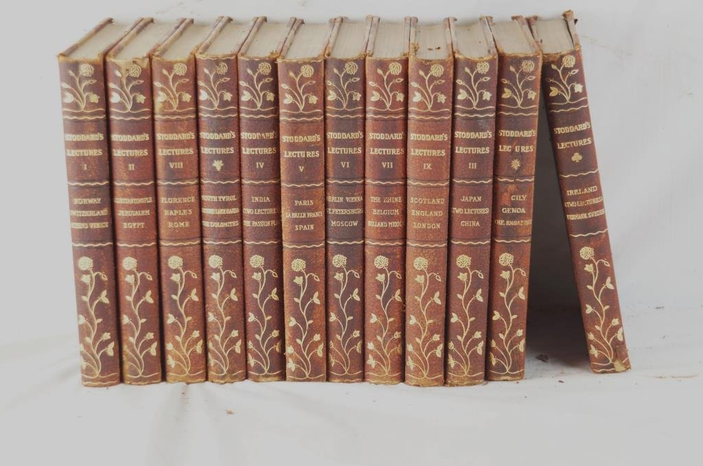 Stoddard's Lectures Ed. of 12 leather bound books