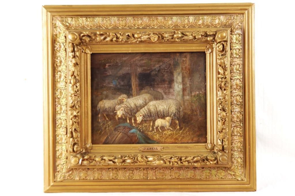 "Johana Grell (1850-1934 English) 9""x11""  Pastoral"