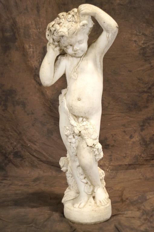 """Cherub antique garden statue - 40"""" h"""