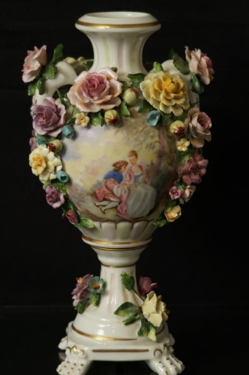 Floral Porcelain West German vase