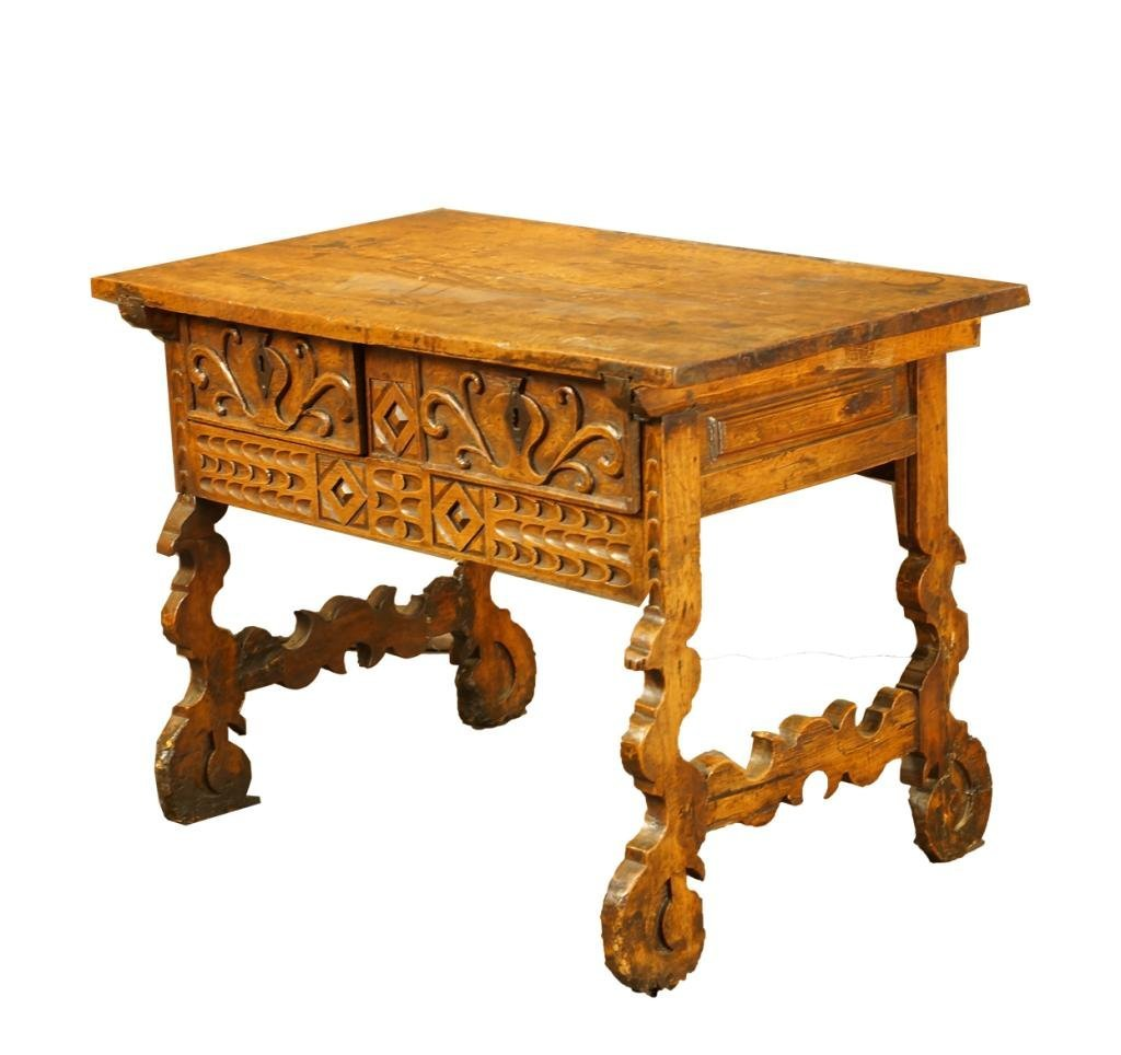 Outstanding 18th c Spanish carved table