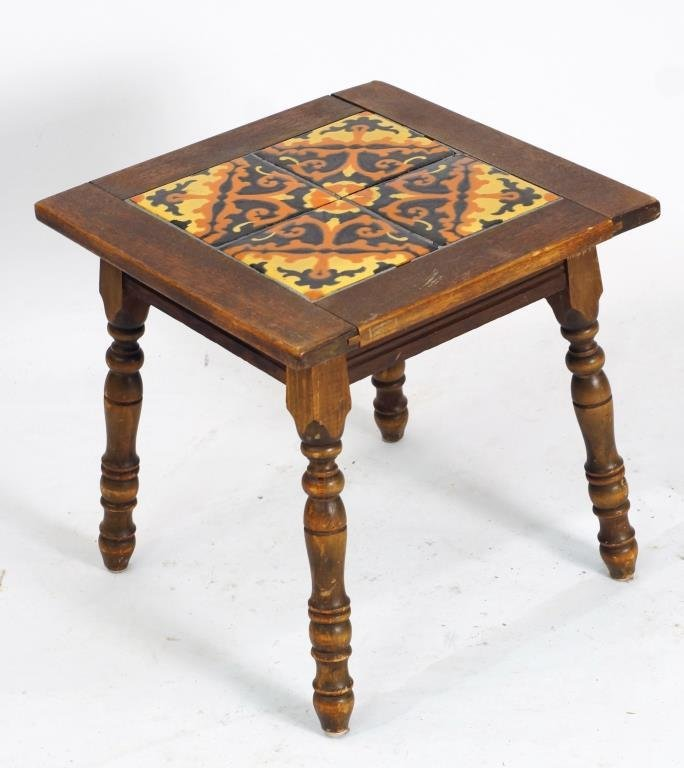 California four - tile top table