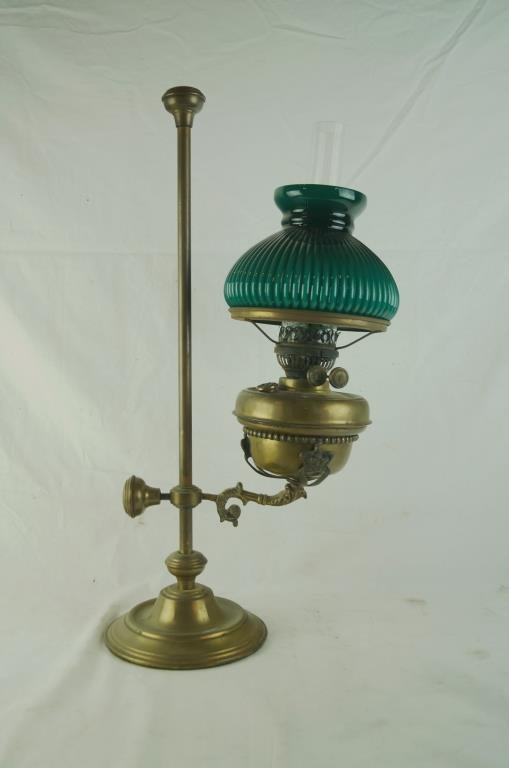 Antique Brass Student Kerosene lamp - adjustable
