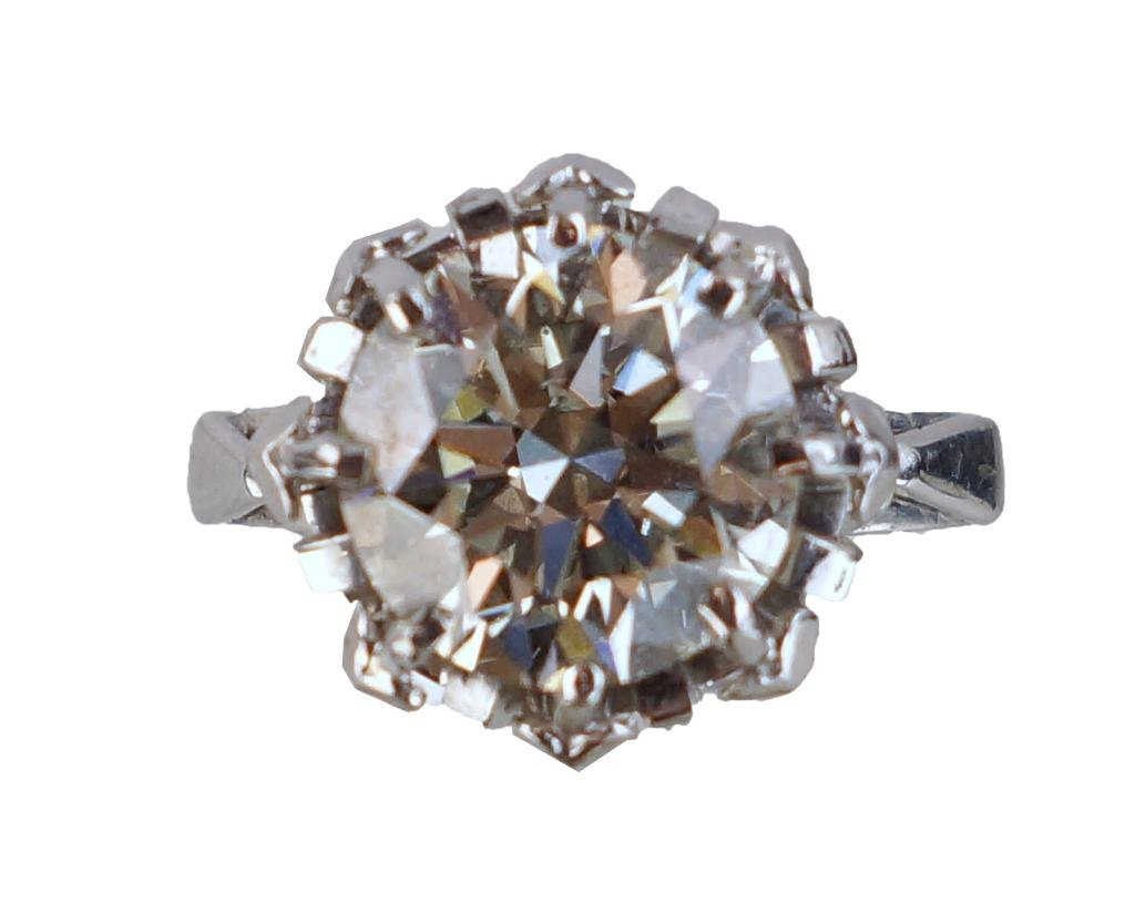 Excellent Ideal Cut  VS1 5.52ct diamond ring