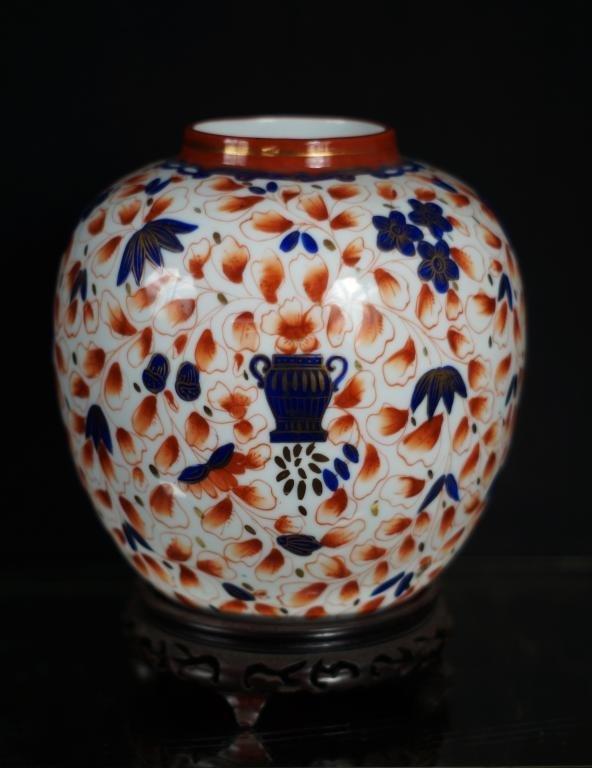 """Meissen vase w stand - 8.5"""" h  8"""" diam"""