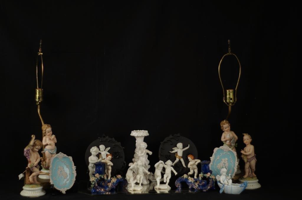 Collection of porcelain Cherubs - app 15pcs