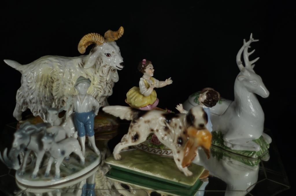 Porcelain & ceramic animals - 5pcs