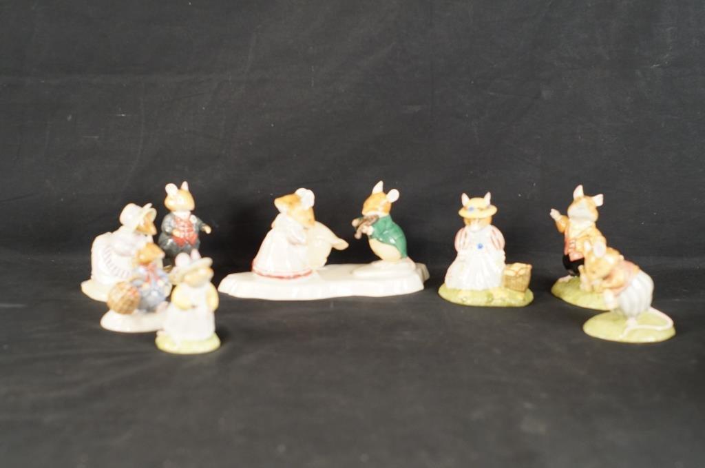 Royal Doulton Beatrix Potter mice - 7pcs