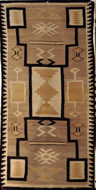 "Navajo  rug  - 33""x60"""