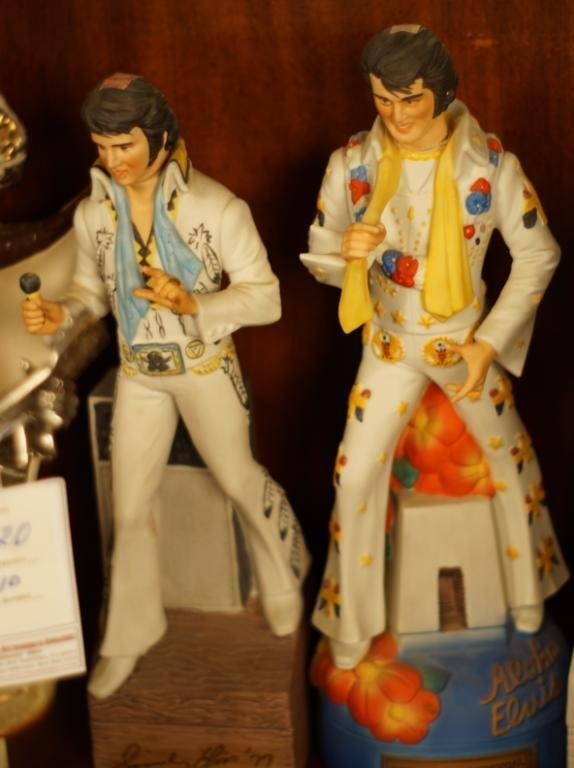 "Collection Vintage Jim Beam ""Elvis""  decanters - 6"