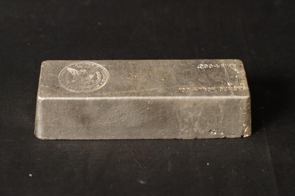 US Silver Corp. .999 Silver Ingot 100+ Troy Ounces