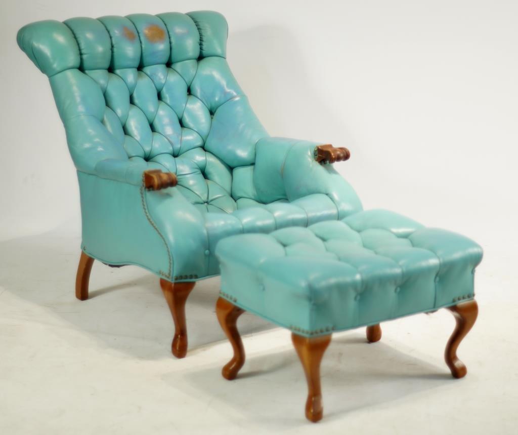 Sleepy Hollow Auto >> Carl Forslund leather sleepy hollow chair & ottoman