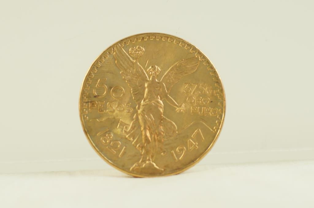 1947 Gold coin - 50 pesos - 37.5 grams .999
