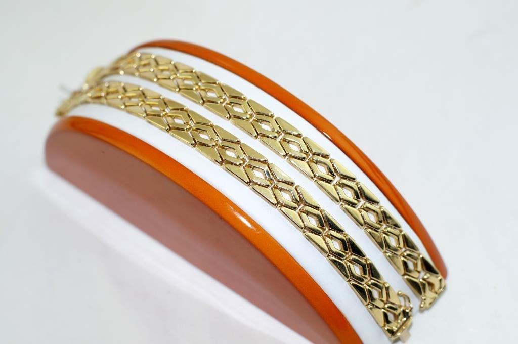 14kt Italian designed gold bracelets - 2