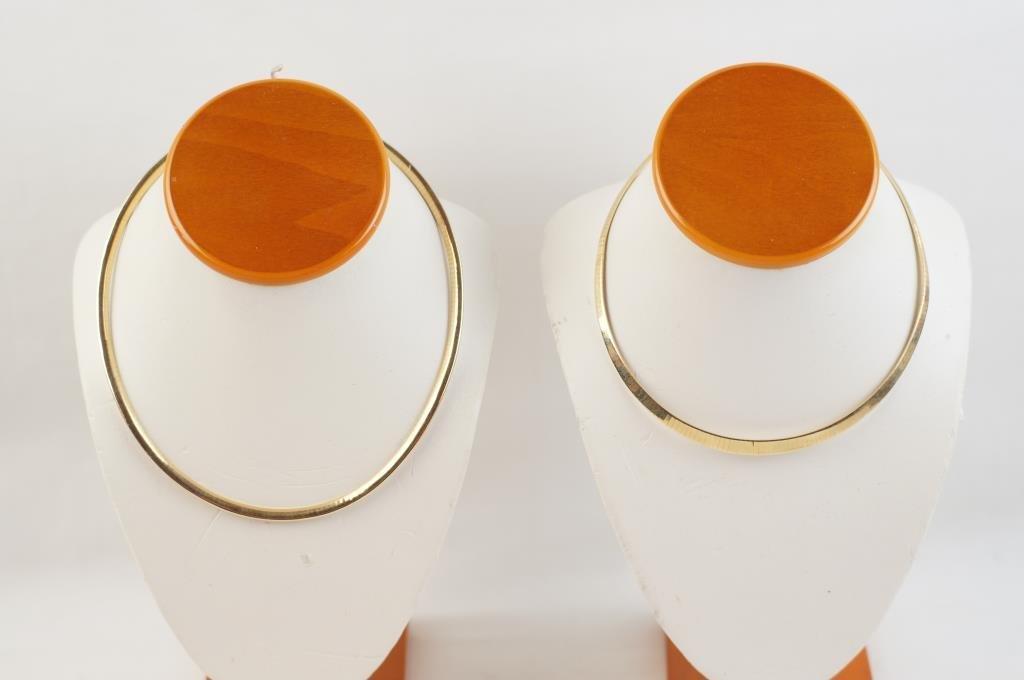 14kt Italian Omega necklaces