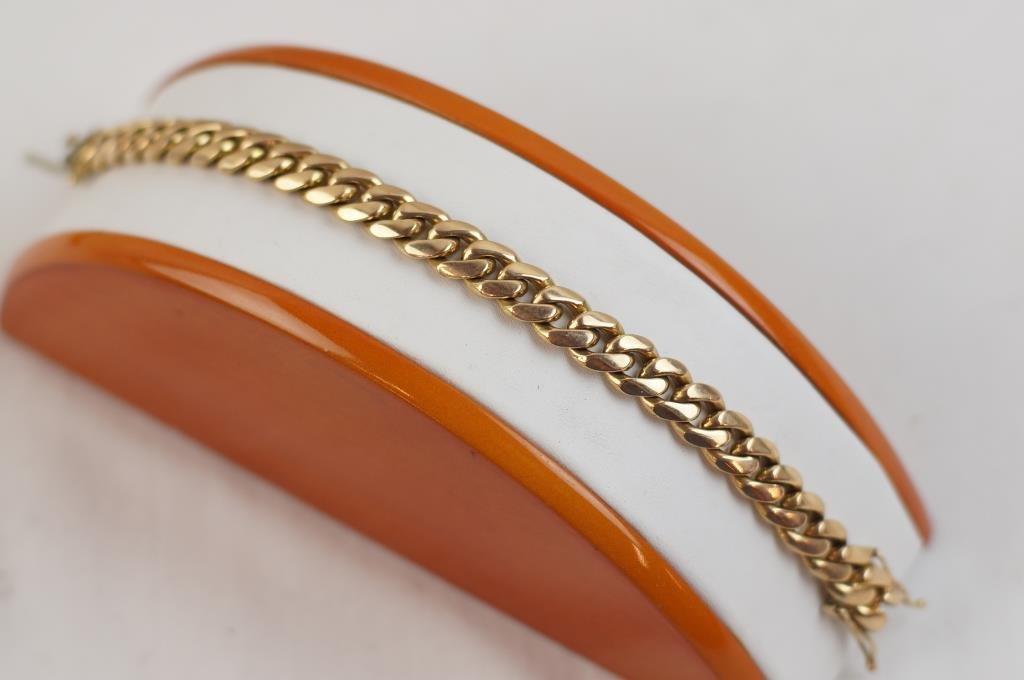 18kt  Rose gold  heavy bracelet with extra links