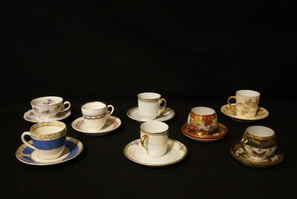 Porcelain demitasses - bone china