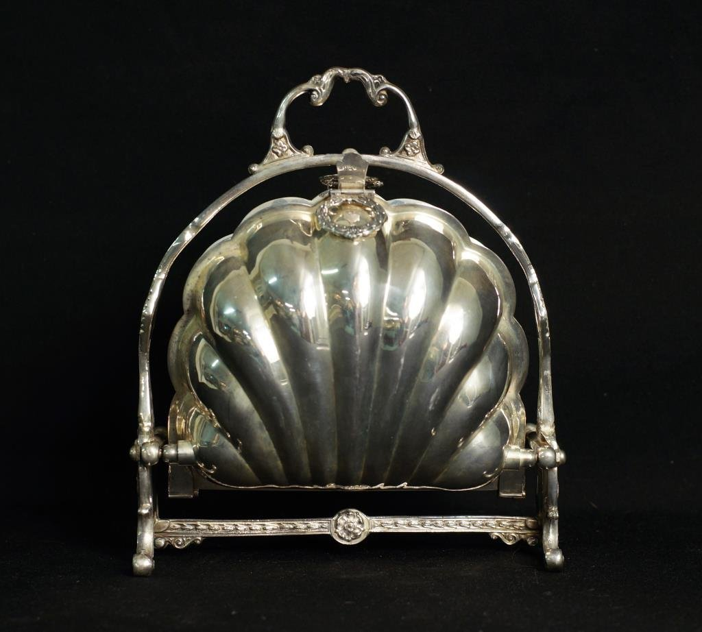 Unusual Silver on copper candy dish