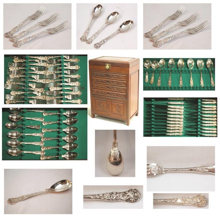 English Sterling 92 pc service-12 -LSG makers mark