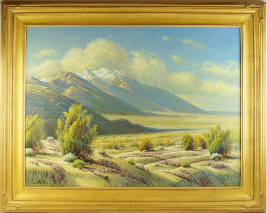 """Paul Grimm (1891-1974)  30""""x40""""  desert landscape"""