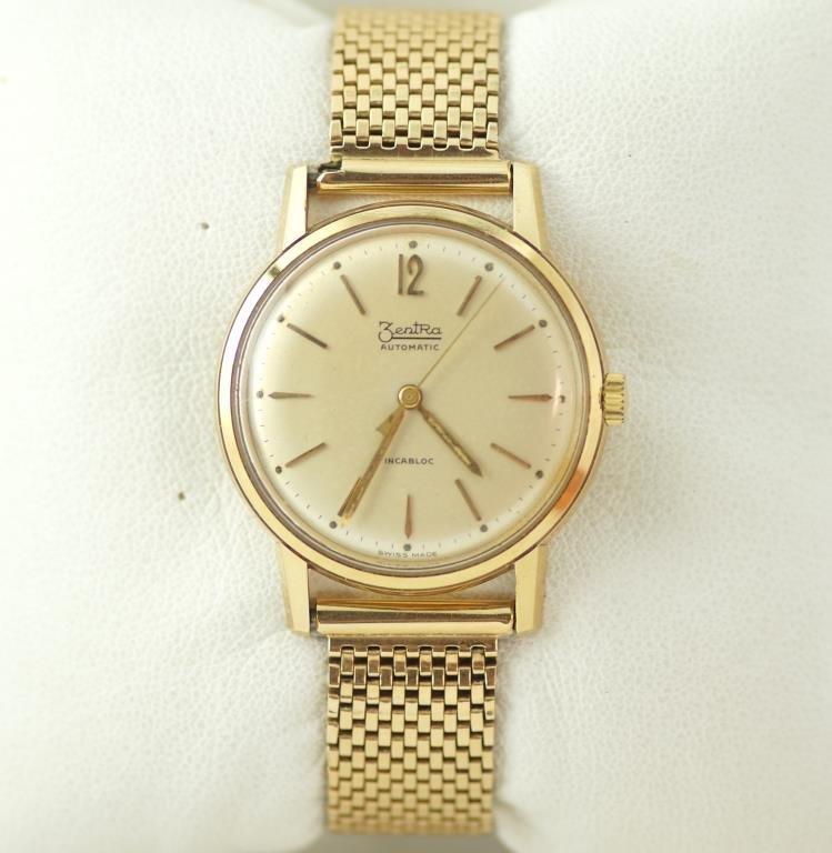 Vintage14kt gold ZentRa Incabloc Automatic Watch