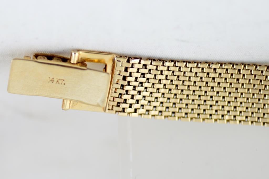 Vintage14kt gold ZentRa Incabloc Automatic Watch - 4