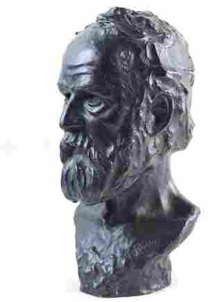 Attrib. to Auguste Rodin (1840-1917) Bronze Victor Hugo
