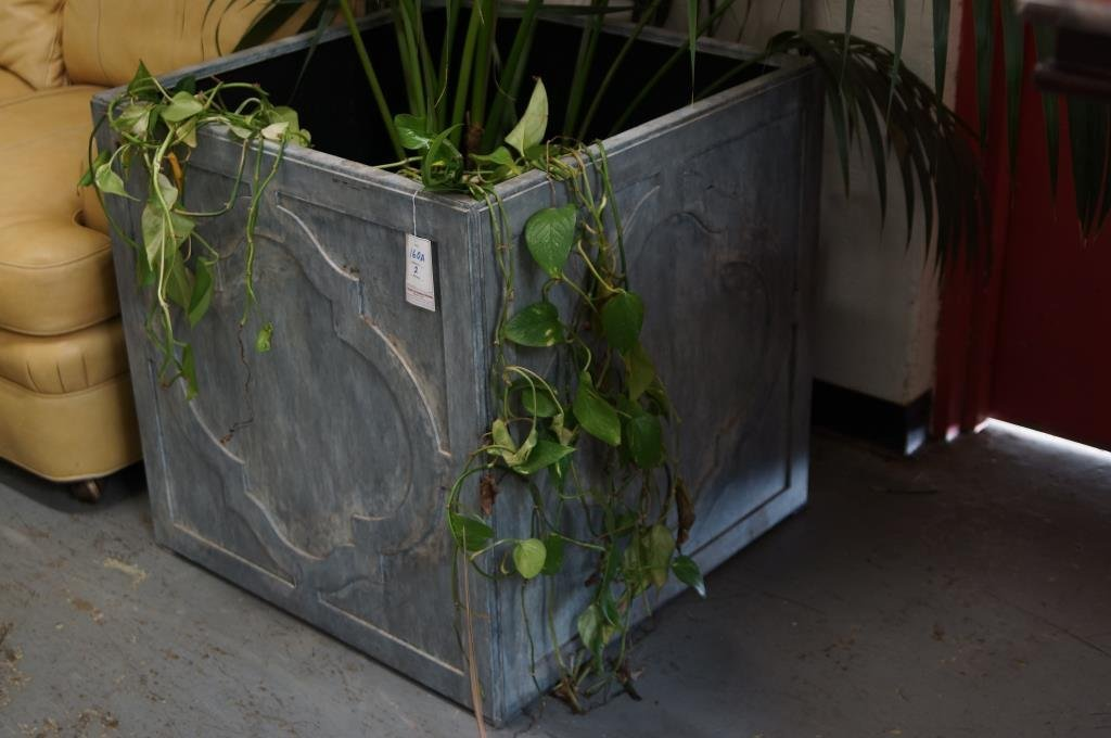 Pair of outstanding Large custom Zinc planters