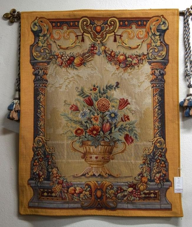 French floral tapestry 120cm x 92cm