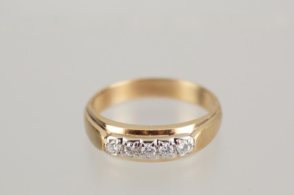 14kt & 12kt two tone yellow gold VVS diamond ring