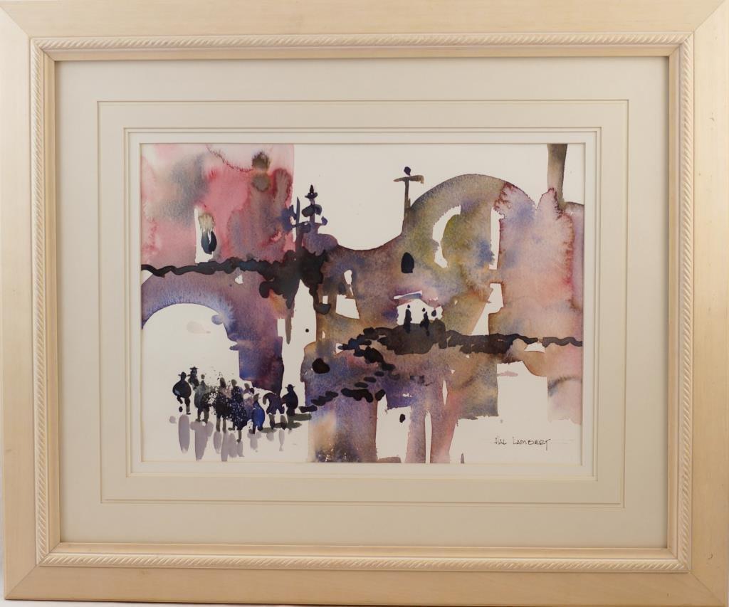 """Hal Lambert 10""""x16"""" watercolor """"Laguna"""""""