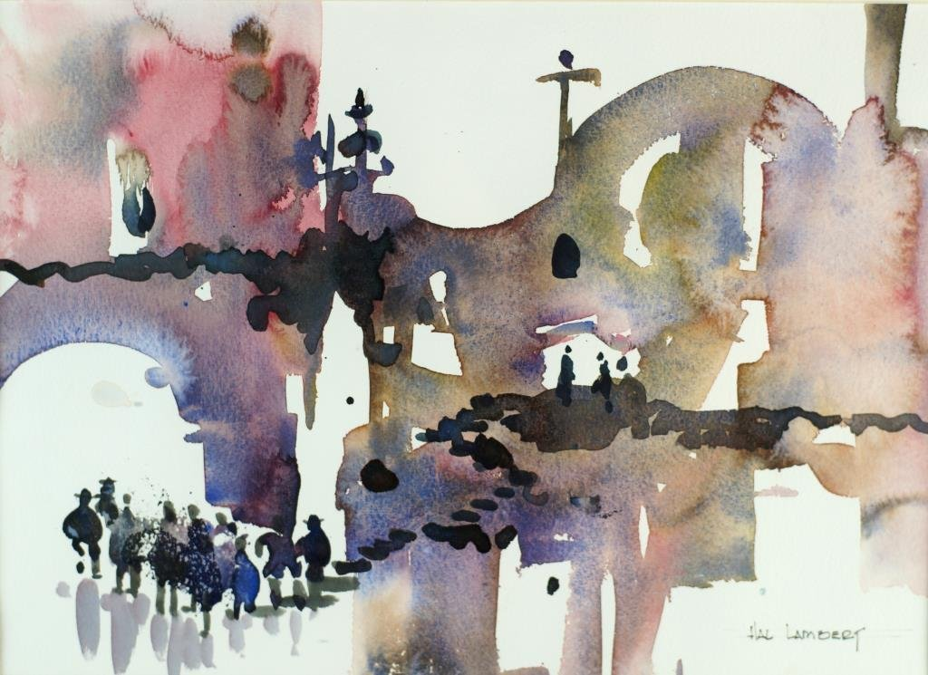"""Hal Lambert 10""""x16"""" watercolor """"Laguna"""" - 2"""