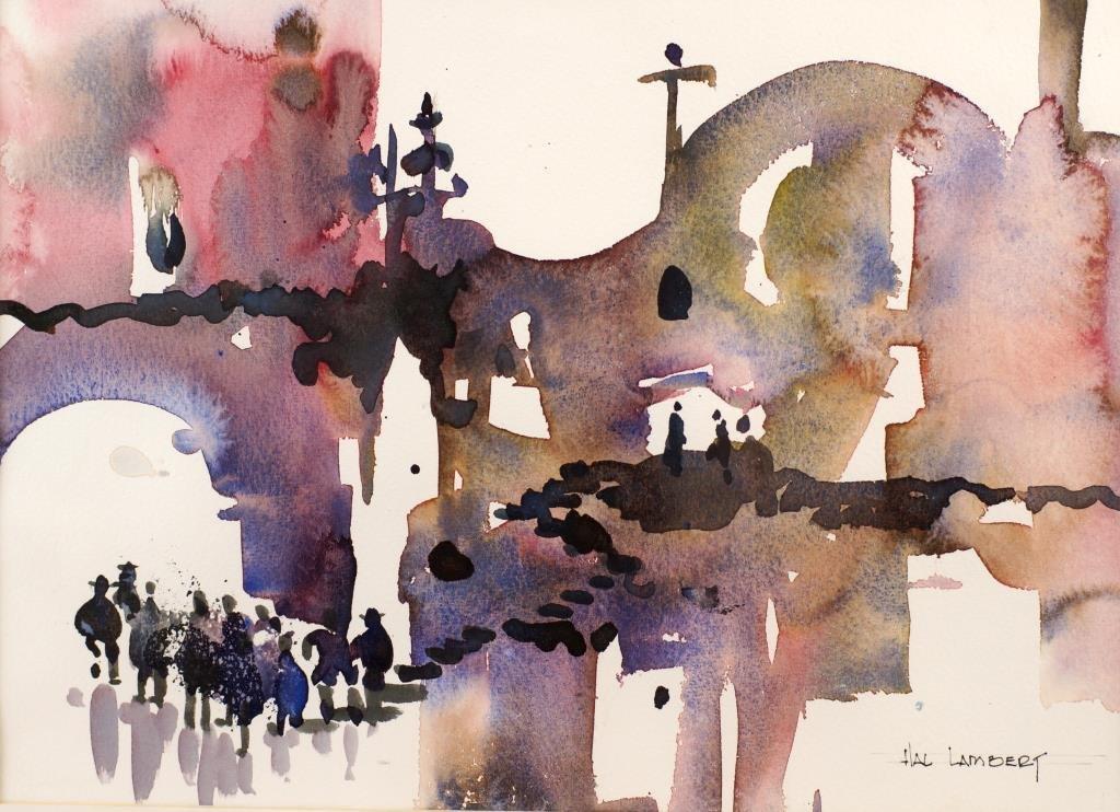 """Hal Lambert 10""""x16"""" watercolor """"Laguna"""" - 3"""
