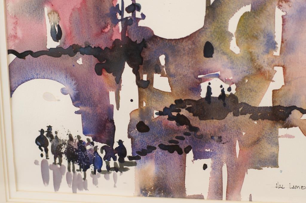 """Hal Lambert 10""""x16"""" watercolor """"Laguna"""" - 5"""