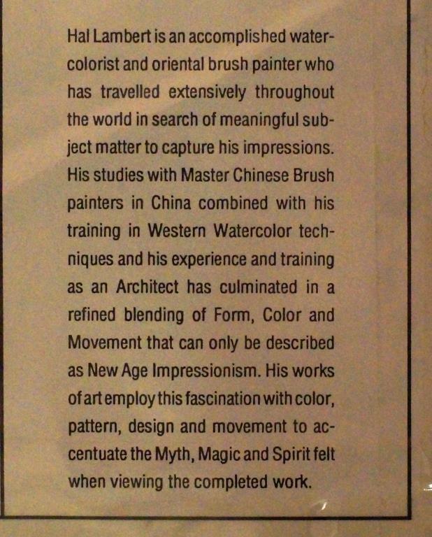 """Hal Lambert 10""""x16"""" watercolor """"Laguna"""" - 8"""