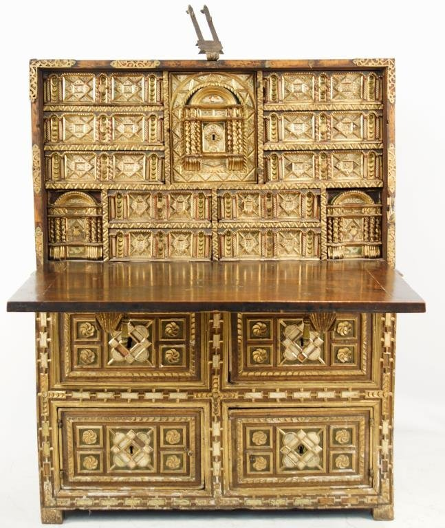Rare 17th Cent. Baroque Spanish Vargueno