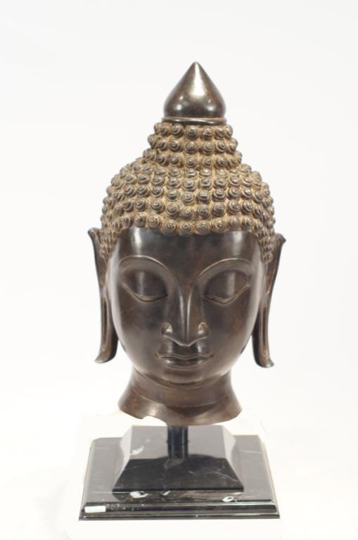 Very Large Bronze Buddha head