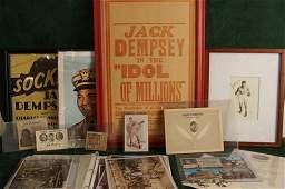 Collection of Vintage Jack Dempsey Memorabilia