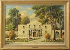 "Paul Grimm (1891 - 1974) oil on canvas ""The Alamo"""