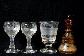 Early 19th Cent. Clear Spa Beaker Bohemian Glass