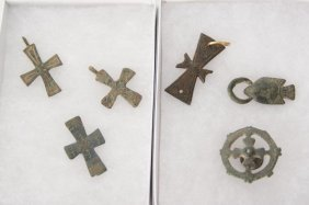 Collection Of Six Byzantine Crosses