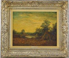 Ralph Albert Blakelock (1847 – 1919) Oil On Canvas