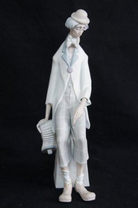 "Large Lladro 18"" H Figure Of A Clown"