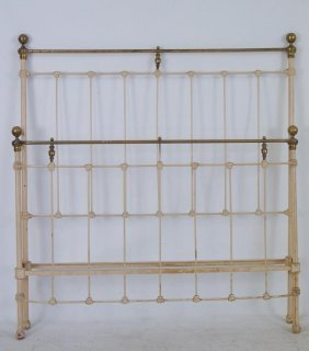 Antique Iron & Brass Bed