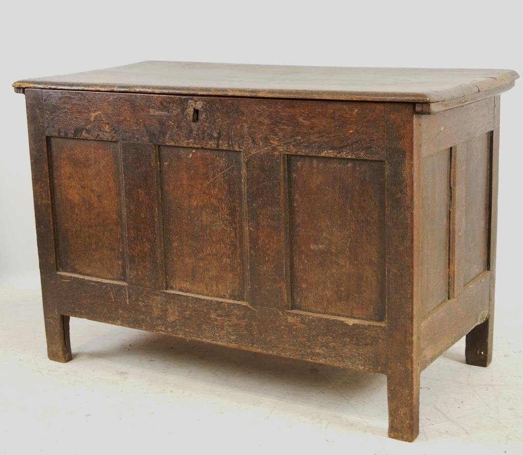 18th/19th cent Spanish Oak Blanket chest - 10