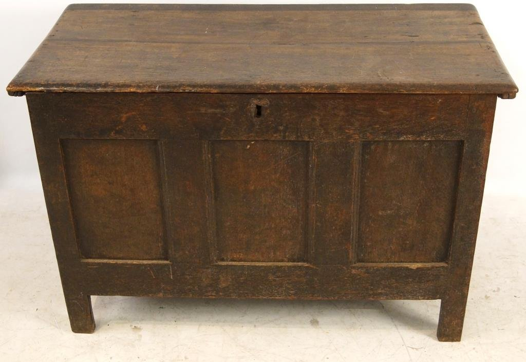 18th/19th cent Spanish Oak Blanket chest - 3