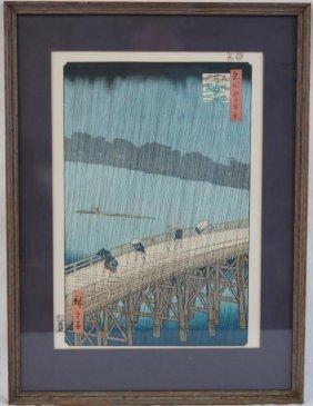 Ando Hiroshige Woodblock Print Okazki